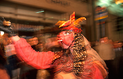 IRELAND DUBLIN 17MAR00 - A witch from the Barcelona Theatre Company reaks havoc the night before the St. Patrick's Day celebrations in Dublin...jre/Photo by Jiri Rezac..© Jiri Rezac 2000..Contact: +44 (0) 7050 110 417.Mobile:  +44 (0) 7801 337 683.Office:  +44 (0) 20 8968 9635..Email:   jiri@jirirezac.com.Web:     www.jirirezac.com..© All images Jiri Rezac 2000 - All rights reserved.