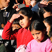 A group of local children watch the performance as part of the Convite de 12 Dicembre in Chichicastengo. Chichicastenango is an indigenous Maya town in the Guatemalan highlands about 90 miles northwest of Guatemala City and at an elevation of nearly 6,500 feet. It is most famous for its markets on Sundays and Thursdays.