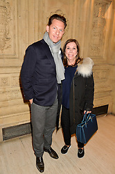 NICK CANDY and his mother PATRICIA CANDY at the opening night of Amaluna by Cirque Du Soleil at The Royal Albert Hall, London on 19th January 2016.