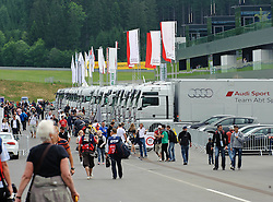 03.06.2011, Red Bull Ring, Spielberg, AUT, DTM Red Bull Ring, im Bild ein Feature mit Besuchern im Fahrerlager // during the DTM training day on the Red Bull Circuit in Spielberg, 2011/06/03, EXPA Pictures © 2011, PhotoCredit: EXPA/ S. Zangrando