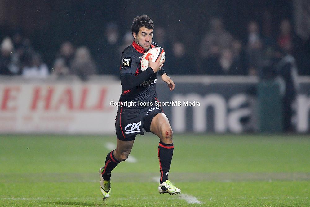 Jerome Porical - 02.01.2015 - Lyon OU / Stade Francais - 15eme journee de Top 14 <br />Photo : Jean Paul Thomas / Icon Sport