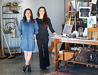Photography at WITH Home Supply in Fayetteville Arkansas.  Pictured are Sarah and Rebekah Fess in their store.<br /> Photographed for Arkansas Life Magazine<br /> Photography by Wesley Hitt