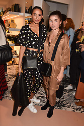 Left to right, Cora Corre and Molly Moorish at launch of Bimba Y Lola, 295 Brompton Road, London England. 26 April 2018.