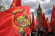 07/04/2009 Tamils protest outside the Houses of Parliament