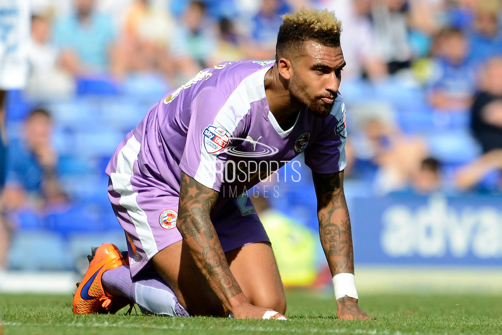 Daniel Williams misses a chance during the Sky Bet Championship match between Birmingham City and Reading at St Andrews, Birmingham, England on 8 August 2015. Photo by Alan Franklin.