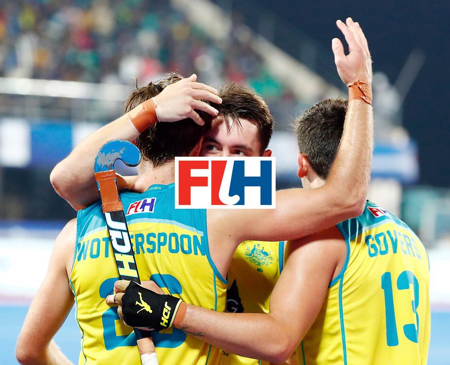 Odisha Men's Hockey World League Final Bhubaneswar 2017<br /> Match id: 20<br /> Australia v Germany<br /> Foto: Dylan Wotherspoon (Aus) scored 1-0<br /> COPYRIGHT WORLDSPORTPICS KOEN SUYK