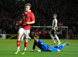 Bristol City's Matt Smith celebrates his goal  - Photo mandatory by-line: Joe Meredith/JMP - Mobile: 07966 386802 - 10/02/2015 - SPORT - Football - Bristol - Ashton Gate - Bristol City v Port Vale - Sky Bet League One