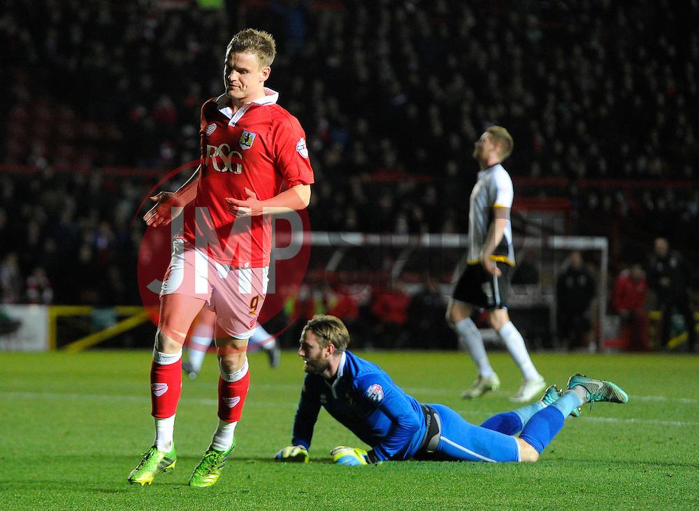 Bristol City's Matt Smith celebrates his goal  - Photo mandatory by-line: Joe Meredith/JMP - Mobile: 07966 386802 - 10/02/2015 - SPORT - Football - Bristol - Ashton Gate - Bristol City v Port Vale - Sky Bet League One
