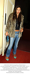 MISS ZARA SIMON daughter of Peter Simon, at a film screening in London on 18th March 2004. PSO 31
