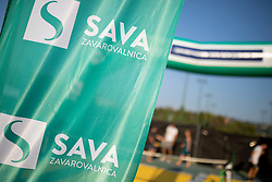Sponsorship activation of Zavarovalnica SAVA at ATP Challenger Zavarovalnica Sava Slovenia Open 2018, on August 4, 2018 in Sports centre, Portoroz/Portorose, Slovenia. Photo by Urban Urbanc / Sportida