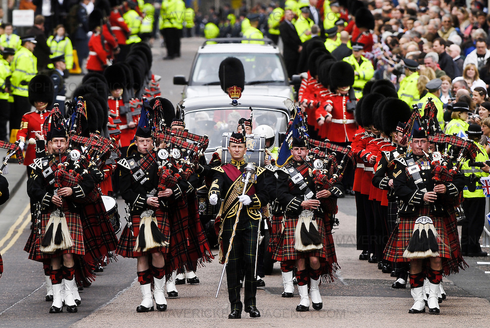 EDINBURGH - 30th June 2007:  The Scottish Parliament was today officially opened by HHR Queen Elizabeth II in a ceremony held in Edinburgh. (Photograph: MAVERICK PHOTO AGENCY)