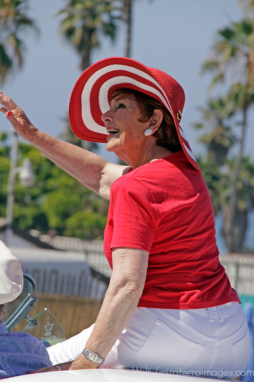Cardiff by the Sea 100th Birthday Parade: Marion Ross, the Grand Marshall