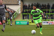 Forest Green Rovers Reece Brown(10) runs forward during the EFL Sky Bet League 2 match between Forest Green Rovers and Lincoln City at the New Lawn, Forest Green, United Kingdom on 2 March 2019.