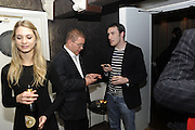 ROGER CHARTERIS; GAVIN MILLS, The 2011 Groucho Club Maverick Award. The Groucho Club. Soho, London. 14 November 2011. <br /> <br />  , -DO NOT ARCHIVE-© Copyright Photograph by Dafydd Jones. 248 Clapham Rd. London SW9 0PZ. Tel 0207 820 0771. www.dafjones.com.