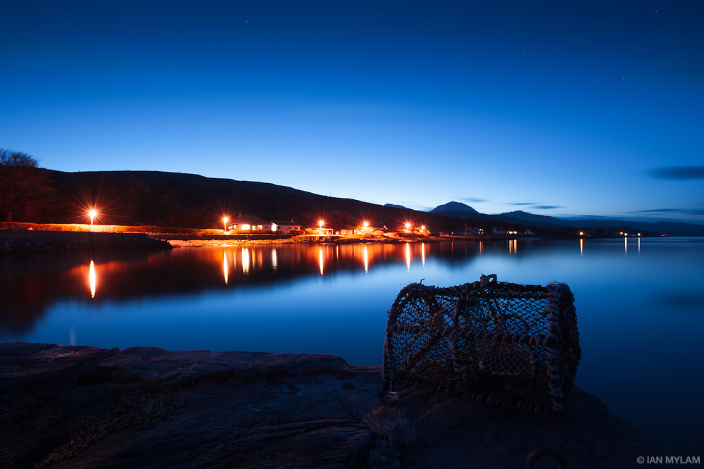 Dusk falls over Craighouse - Isle of Jura, Scotland