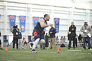 Mississippi lineman Pierce Burton runs through a drill during Pro Day, in Oxford, Miss. on Monday, March 3, 2014. (AP Photo/Oxford Eagle, Bruce Newman)