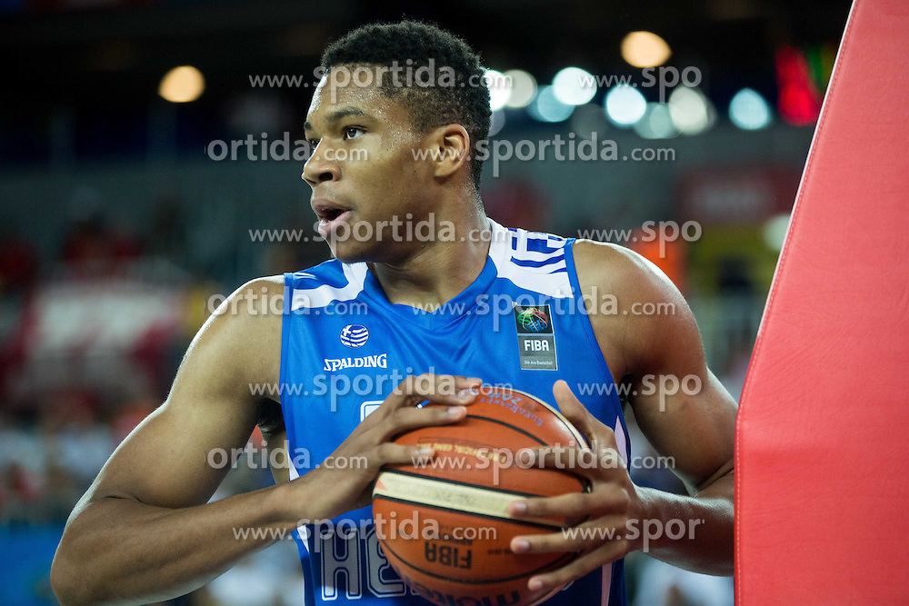 Giannis Antetokounmpo of Greece during basketball match between FYR of Macedonia and Greece at Day 1 in Group C of FIBA Europe Eurobasket 2015, on September 5, 2015, in Arena Zagreb, Croatia. Photo by Vid Ponikvar / Sportida