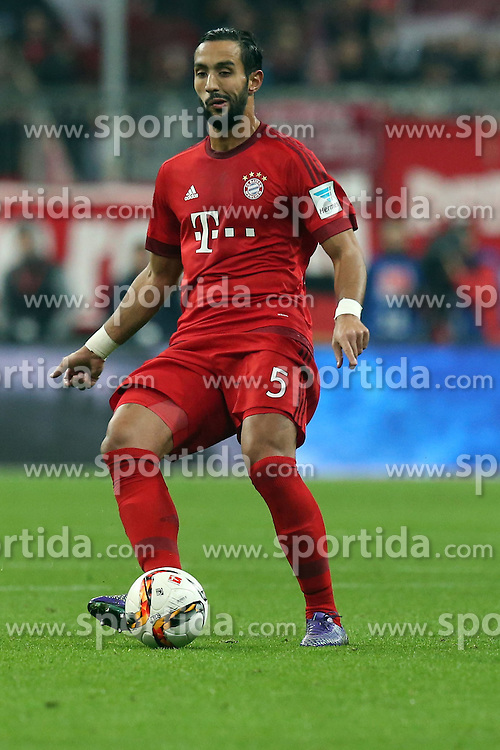 12.03.2016, Allianz Arena, Muenchen, GER, 1. FBL, FC Bayern Muenchen vs SV Werder Bremen, 26. Runde, im Bild Mehdi Benatia FC Bayern Muenchen), // during the German Bundesliga 26th round match between FC Bayern Munich and SV Werder Bremen at the Allianz Arena in Muenchen, Germany on 2016/03/12. EXPA Pictures &copy; 2016, PhotoCredit: EXPA/ Eibner-Pressefoto/ Langer<br /> <br /> *****ATTENTION - OUT of GER*****