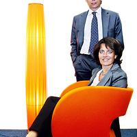 Nederland, Amsterdam , 11 september 2012...Maurits Duynstee  Directeur Corporate Clients Nederland bij ING Commercial en zijn voorgangster Annerie Vreugenhil..Foto:Jean-Pierre Jans