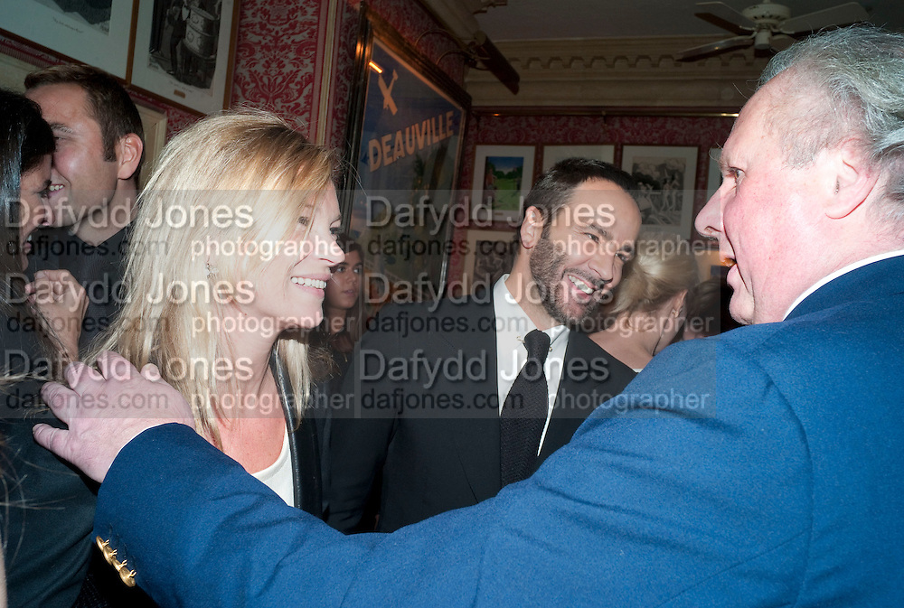 KATE MOSS; TOM FORD; GRAYDON CARTER, Graydon Carter hosts a diner for Tom Ford to celebrate the London premiere of ' A Single Man' Harry's Bar. South Audley St. London. 1 February 2010