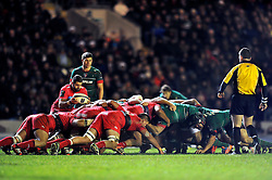 Sebastien Tillous-Borde of Toulon looks to put the ball into a scrum - Photo mandatory by-line: Patrick Khachfe/JMP - Mobile: 07966 386802 07/12/2014 - SPORT - RUGBY UNION - Leicester - Welford Road - Leicester Tigers v Toulon - European Rugby Champions Cup