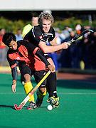 Jared Jones in action for New Zealand, Junior Black Sticks Men vs Malaysia Juniors international Under 21 Hockey, 7 June 2011, Alexander McMillan Hockey Centre Dunedin, New Zealand. Photo: Richard Hood/photosport.co.nz