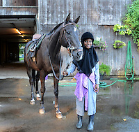 Portraits of Kids in Philadelphia can learn to ride horses and play polo in exchange for caring for horses at the Work to Ride barn.