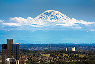 Mt. Rainier - Taken from atop the Space Needle in Seattle, WA - Zoomed in at 200mm