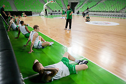 Coach Sasa Filipovski during practice session of KK Union Olimpija 1 day before Euroleague Basketball match against Fenerbahce Ulker Istanbul (TUR) on October 18, 2012 in Arena Stozice, Ljubljana, Slovenia. (Photo By Vid Ponikvar / Sportida)