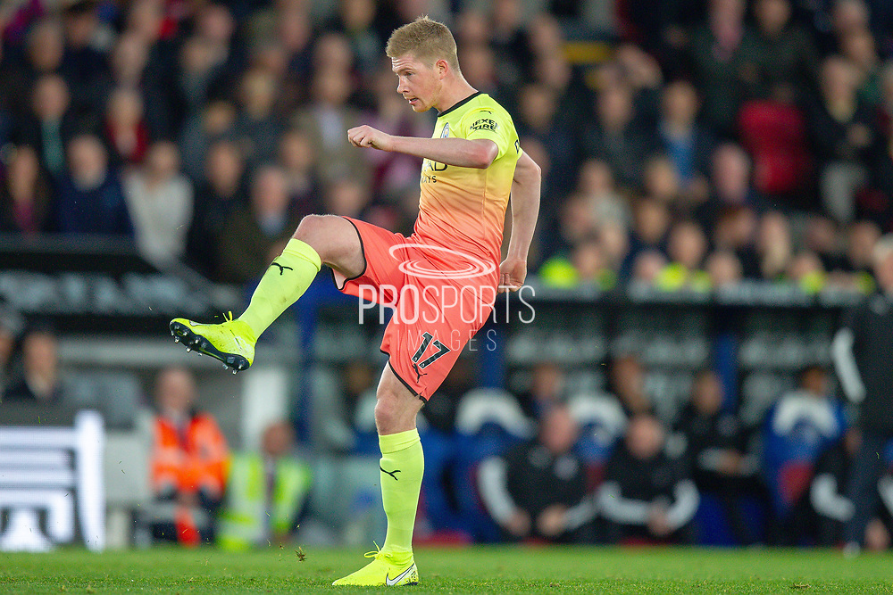 Manchester City midfielder Kevin De Bruyne (17) during the Premier League match between Crystal Palace and Manchester City at Selhurst Park, London, England on 19 October 2019.