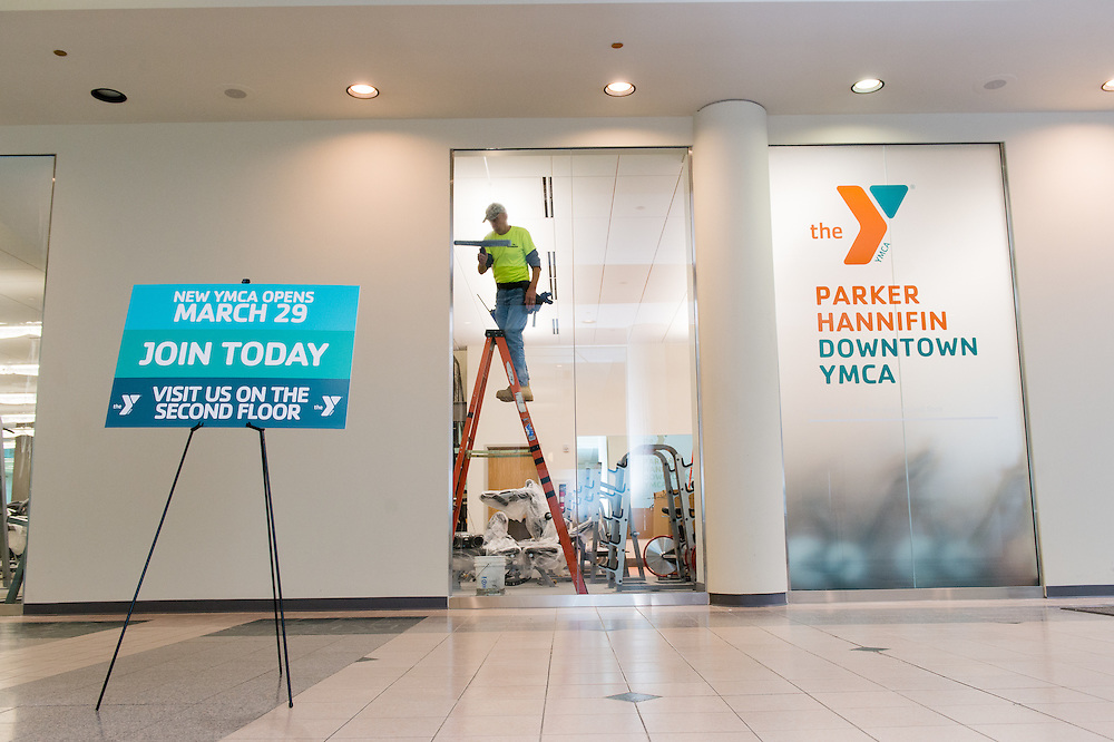Photos taken of the YMCA Downtown location on March 15, 2016.