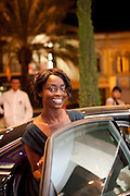 Cannes, France. May 13th 2010..French actress Aissa Maiga leaving the Gray d'Albion Hotel