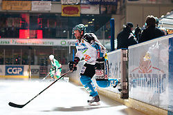 Jan Axel Alavaara (EHC Liwest Linz, #27) during ice-hockey match between HDD Tilia Olimpija and EHC Liwest Black Wings Linz at fourth match in Semifinal  of EBEL league, on March 13, 2012 at Hala Tivoli, Ljubljana, Slovenia. (Photo By Matic Klansek Velej / Sportida)