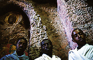 "In Bet Golgotha there are some very rare figurative relieves. There are seven relieves of saints and one that is ""Jesus tomb"". This chapel of the church is the only area in Lalibela where women are not allowed."