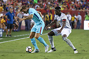 Manchester United Midfielder Paul Pogba during the International Champions Cup match between Barcelona and Manchester United at FedEx Field, Landover, United States on 26 July 2017.
