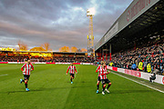 GOAL 1-0 Brentford midfielder Emiliano Marcondes (17) scores and celebrates during the The FA Cup match between Brentford and Stoke City at Griffin Park, London, England on 4 January 2020.