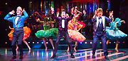 Strictly Ballroom <br /> By Baz Luhrmann <br /> At The Piccadilly Theatre, London, Great Britain <br /> Press photocall <br /> 17th April 2018 <br /> <br /> <br /> Stephen Matthews as Doug Hastings <br /> Gerard Horan as Barry Fife <br /> <br /> And company