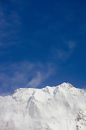 A snow capped mountain at Annapurna basecamp, Annapurna Sanctuary, Nepal