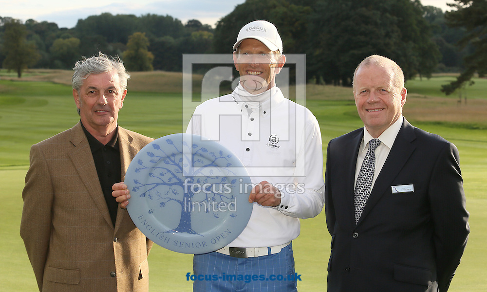 Picture by Paul Gaythorpe/Focus Images Ltd +447771 871632<br /> 06/10/2013<br /> Warwick Brindle Managing Director Rockliffe Hall and Steen Tinning winner of the English Senior Open at Rockliffe Hall, Darlington.