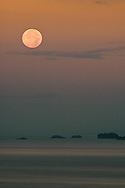 moonset over punta quepos, costa rica