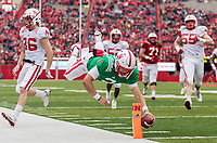 Nebraska's Adrian Martinez (2) scores during the Nebraska Spring Game at Memorial Stadium in Lincoln, Nebraska, Saturday, April 21, 2018.<br /> <br /> MATT DIXON/THE WORLD-HERALD