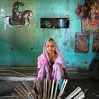 Traibal women in villiage near Jambughoda in state of Gujarat India
