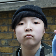 London,England,UK. 4th April, 2017. Mei Han 14 year old girl and her blind father are seeking for her to be educated in Westminster after moving from Wolverhampton but has not been offered any school places. by See Li