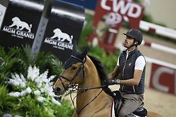 Sheikh Ali Al Thani Bin Khalid, (QAT), First Devision <br /> Training session<br /> Longines FEI World Cup™ Jumping Finals <br /> Las Vegas 2015<br />  © Hippo Foto - Dirk Caremans<br /> 15/04/15