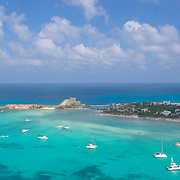 Aerial view of Playa Norte and the hotel zone.<br />