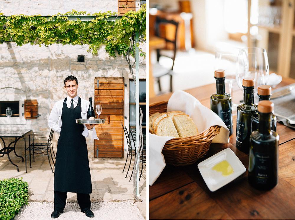St. Meneghetti restaurant, wine and olive press. Rovinj, Croatia