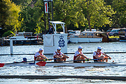 Henley on Thames, England, United Kingdom, 3rd July 2019, Henley Royal Regatta, Prince Albert Challenge Cup, Harvard University, at the 1 and 1/8 barrier,  Henley Reach, [© Peter SPURRIER/Intersport Image]<br /> <br /> 18:50:10 1919 - 2019, Royal Henley Peace Regatta Centenary,