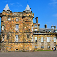 Holyrood Palace in Edinburgh, Scotland<br />