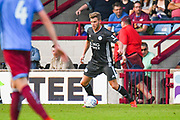 Callum Elder of Leicester City (20) in action during the Pre-Season Friendly match between Scunthorpe United and Leicester City at Glanford Park, Scunthorpe, England on 16 July 2019.