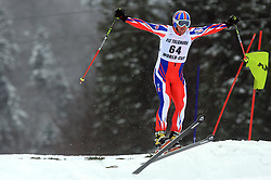 Andrew Clarke of Great Britain  at FIS Telemark World Cup Kobla 2009 race,  on January 18, 2009, in Kobla, Bohinj, Slovenia.  (Photo by Vid Ponikvar / Sportida)